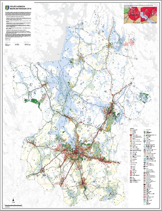 Maakuntakaavakartta 2014