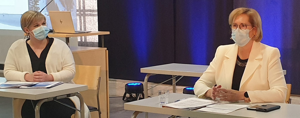 Tiede- ja kulttuuriministeri Annika Saarikko ja työministeri Tuula Haatainen vierailulla Päijät-Hämeen maakkuntakierroksella