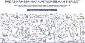 Päijät-Hämeen maakuntaohjelman sisällöt webinaarin kuvituskuva
